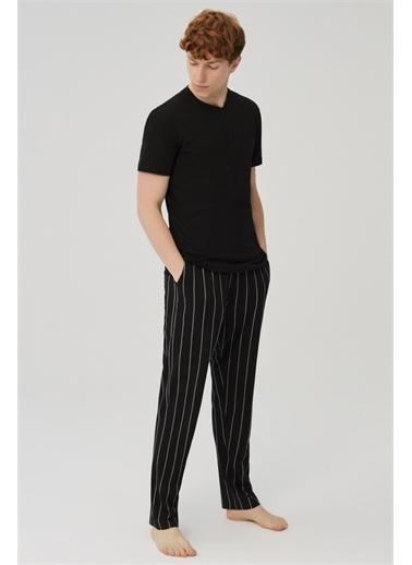 Dagi Erkek Pamuklu Pijama Takimi Siyah
